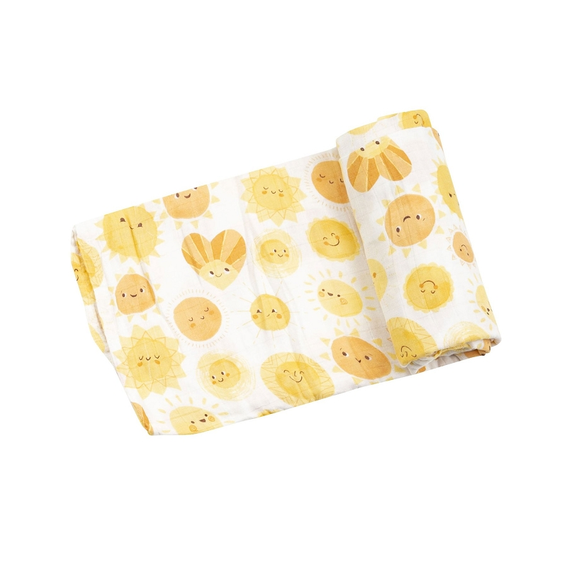 Bamboo/Cotton Swaddle Blanket | Sunshine