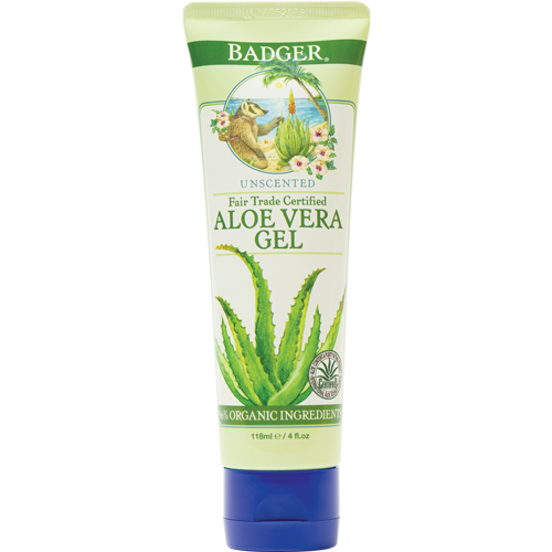 Badger Unscented Aloe Vera Gel | 4 oz