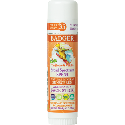 Badger Kids Clear Sport Face Sunscreen Stick SPF35