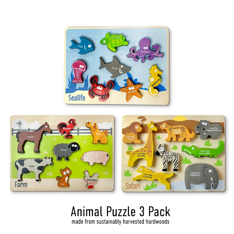 Chunky Puzzle Assortment | Animals