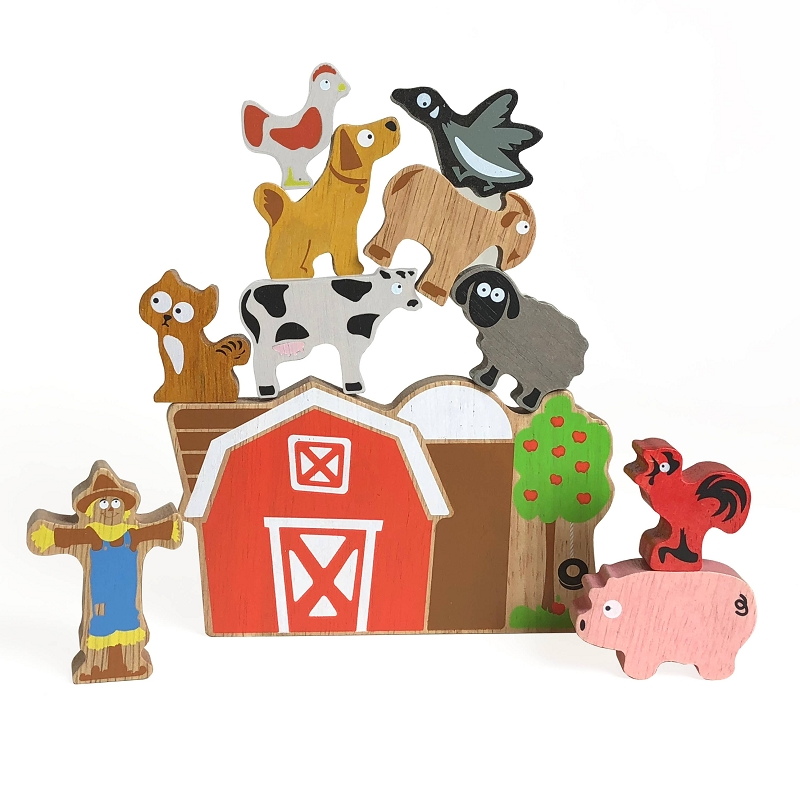 Balance Barn Stacking Game & Playset