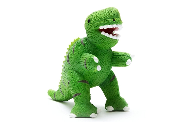 Rubber Dinosaur Toy | Green T-Rex