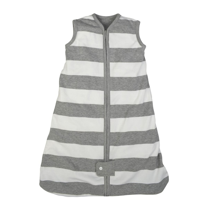 Baby Organic Wearable Blanket | Grey Stripe
