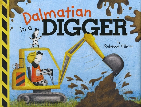 Dalmatian in a Digger board book