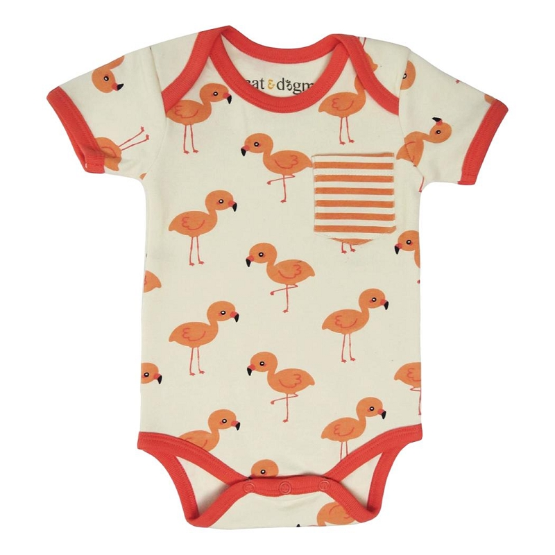 Organic Cotton Bodysuit | Flamingo