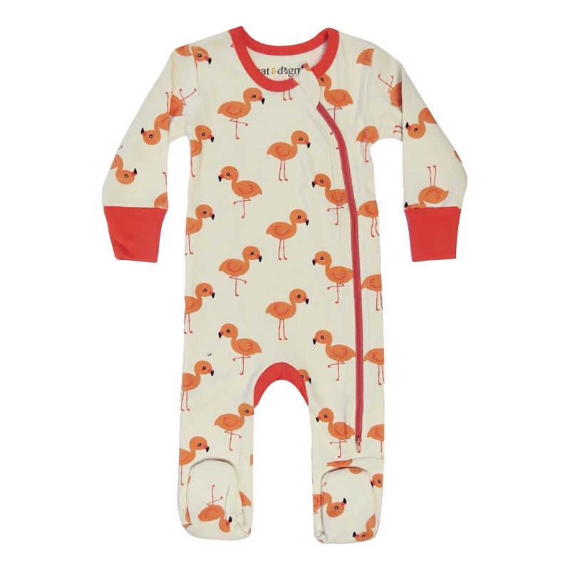Organic Cotton Footie | Flamingo