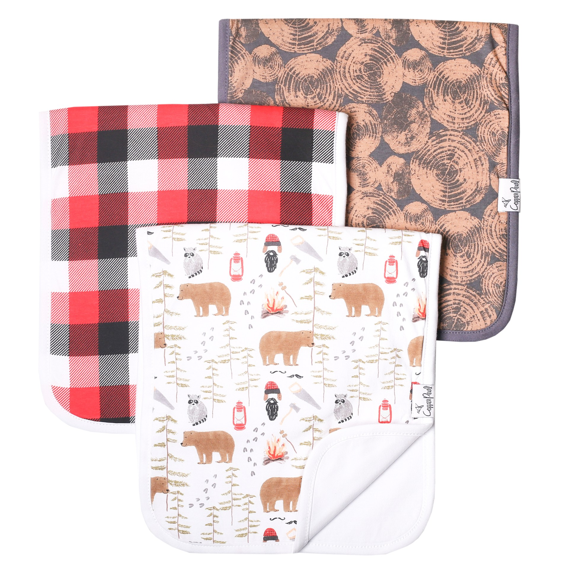 Burp Cloths 3 pk | Lumberjack
