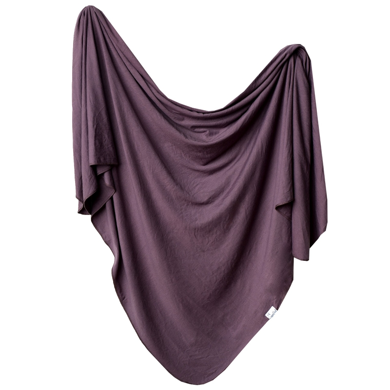 Knit Swaddle Blanket | Plum