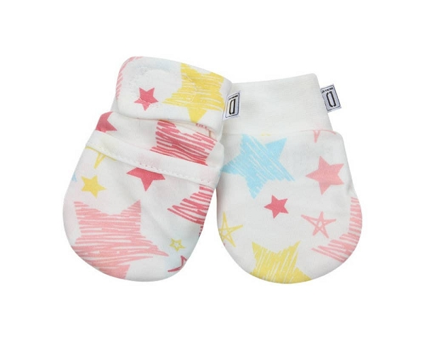 Newborn Anti-Scratch Mittens | Star