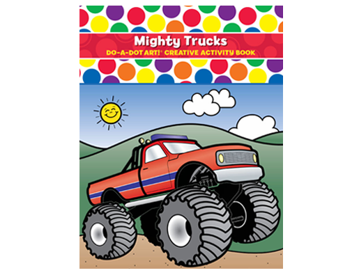 Dot Activity Book | Mighty Trucks