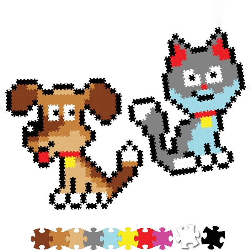 Jixelz 700 pc Set | Playful Pets