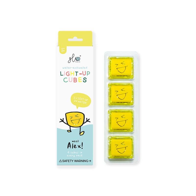 Glo Pals Cubes 4 pack | Alex (yellow)