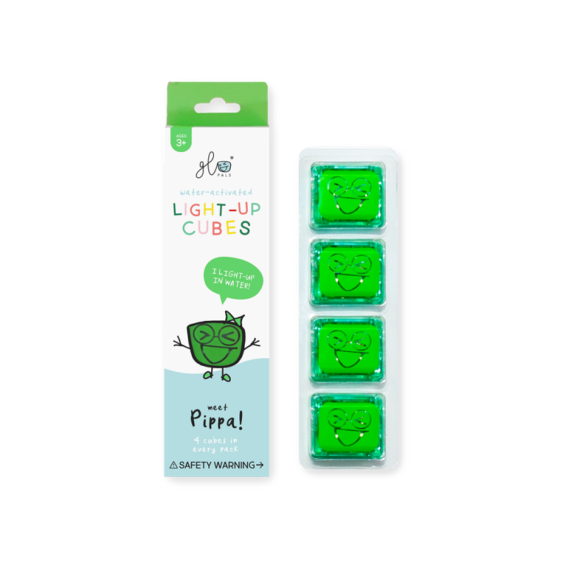 Glo Pals Cubes 4 pack | Pippa (green)