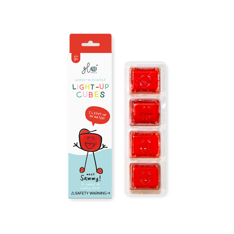 Glo Pals Cubes 4 pack | Sammy (red)
