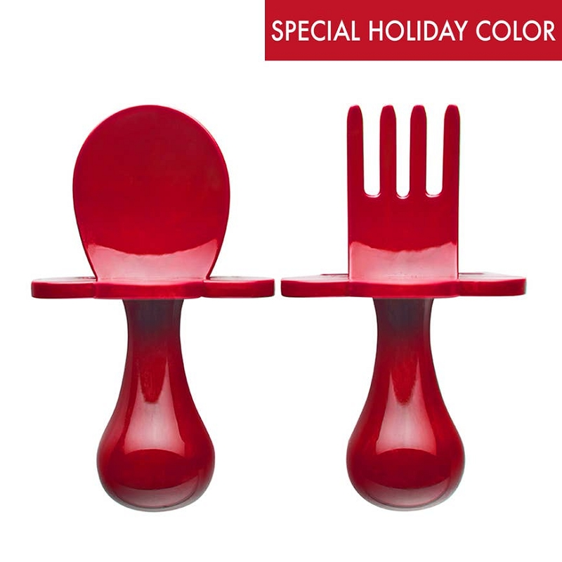 Grabease Utensil Set | Poppy