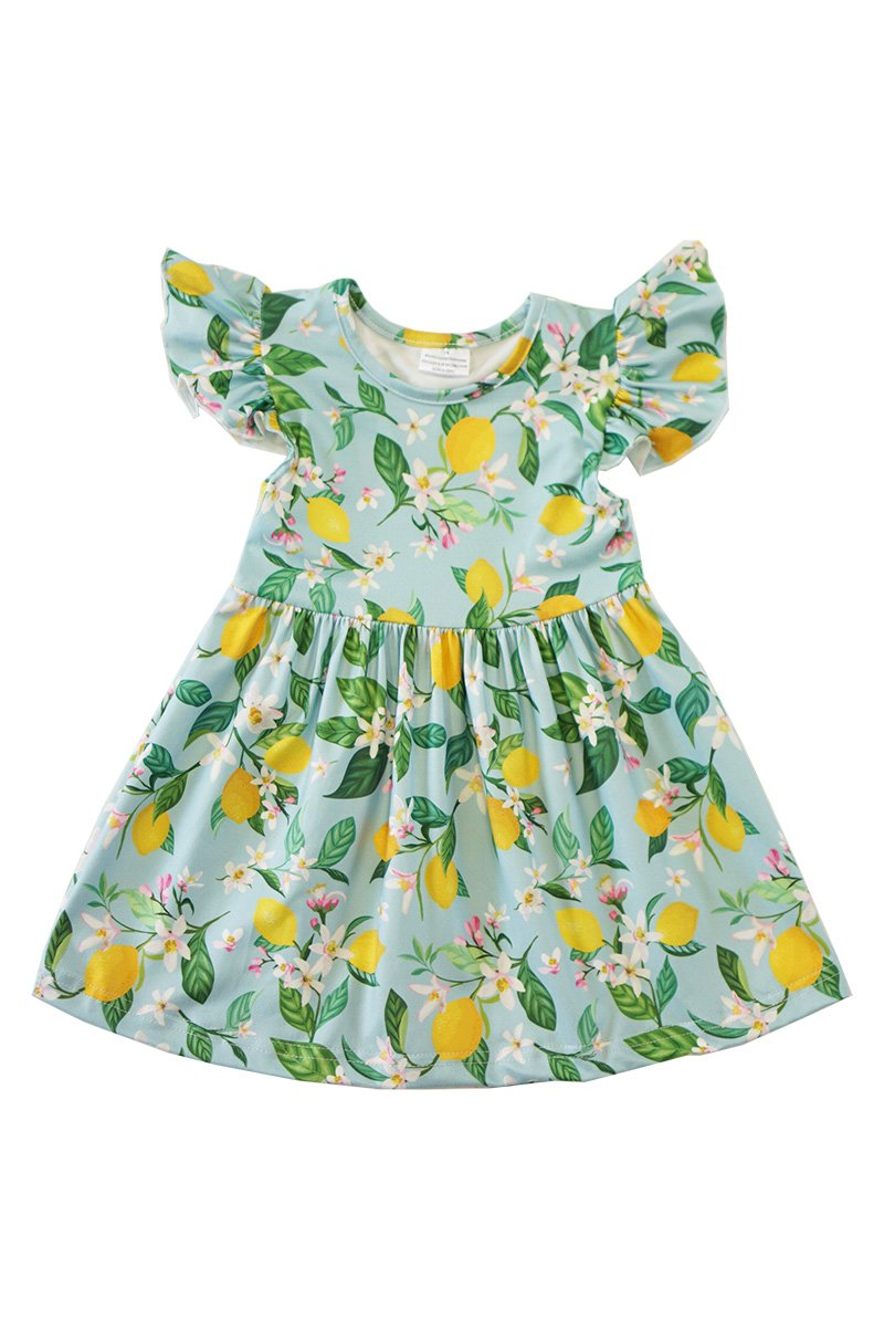 Lemon Grove Flutter Dress