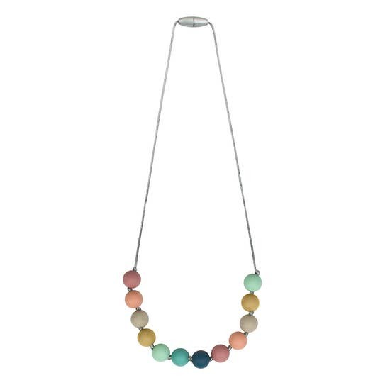 Silicone Teething Necklace | Rainbow