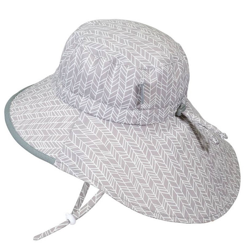 Cotton Adventure Hat | Grey Herringbone