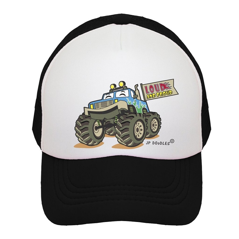 Kids Trucker Hat | Monster Truck Black