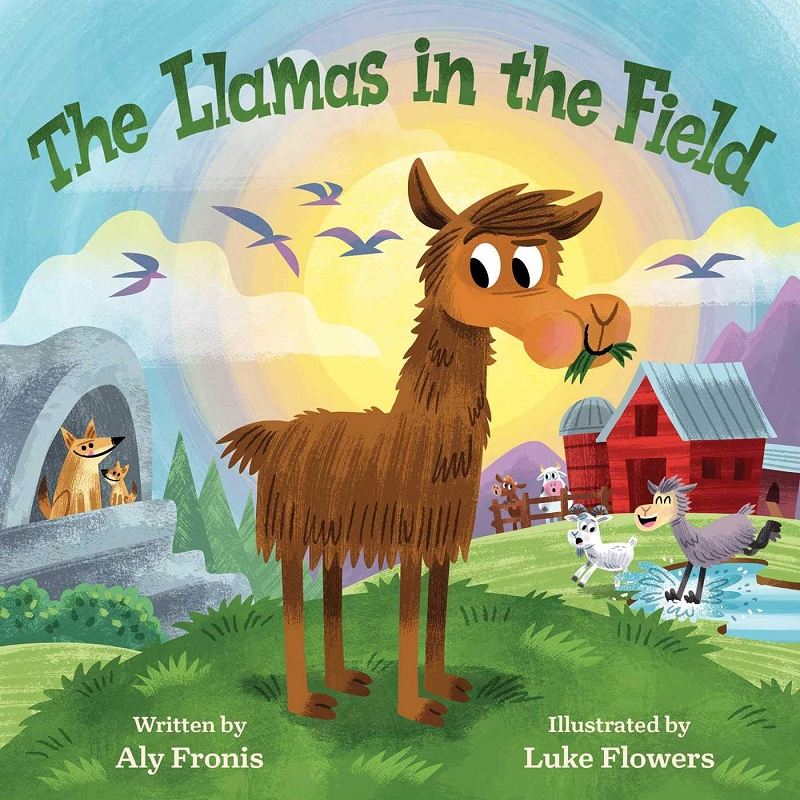 The Llamas in the Field board book