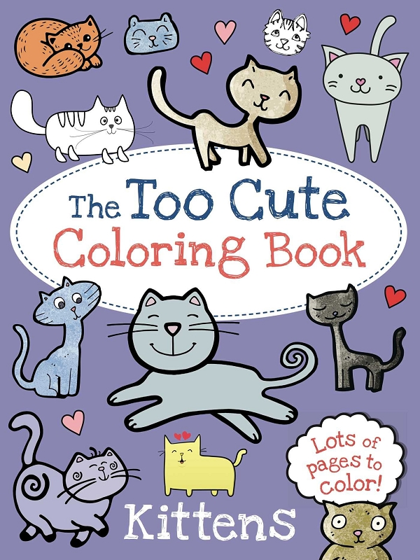 The Too Cute Coloring Book | Kittens