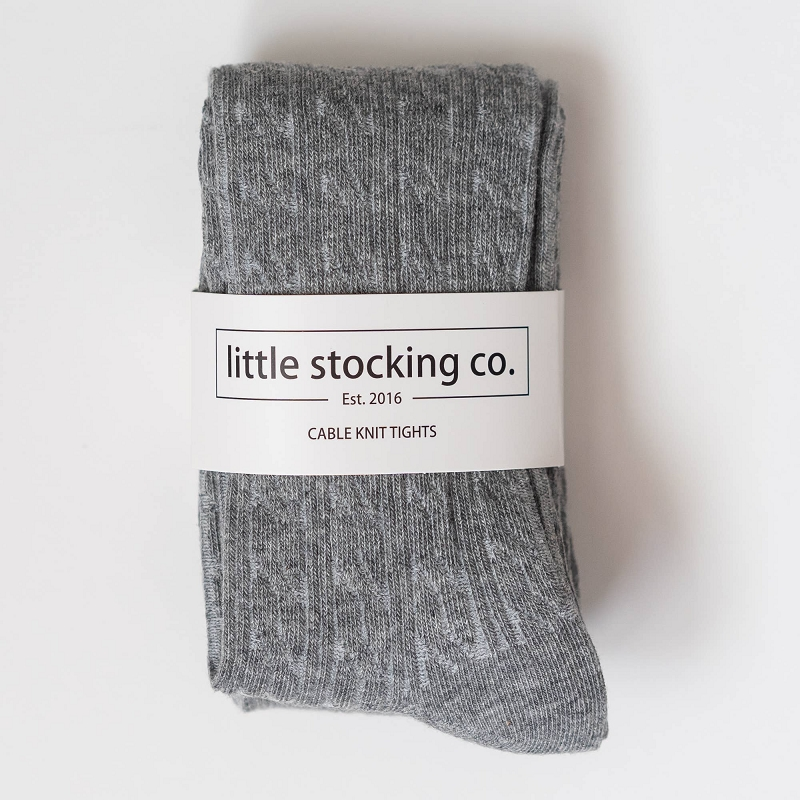 Cable Knit Tights | Gray