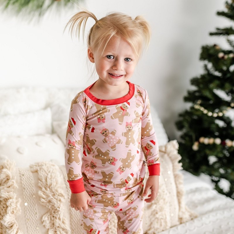 Bamboo Two-Piece Pajama Set | Pink Gingerbread