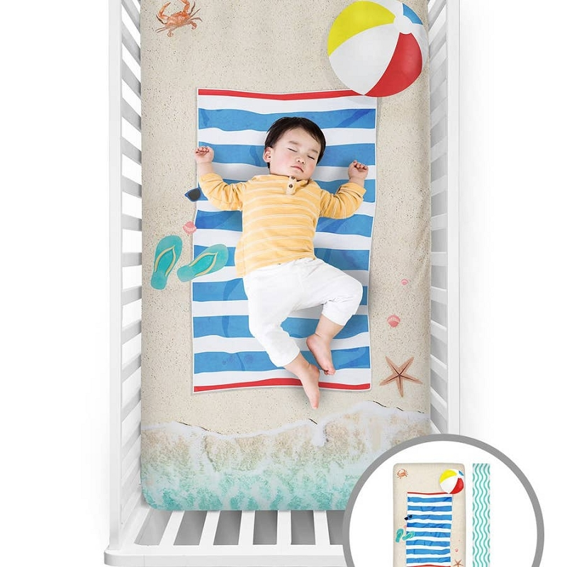 Fitted Crib Sheet | Beach