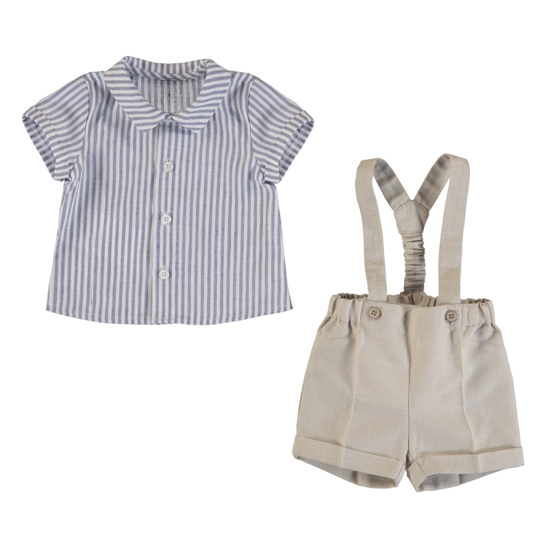 George Suspender Shorts Set