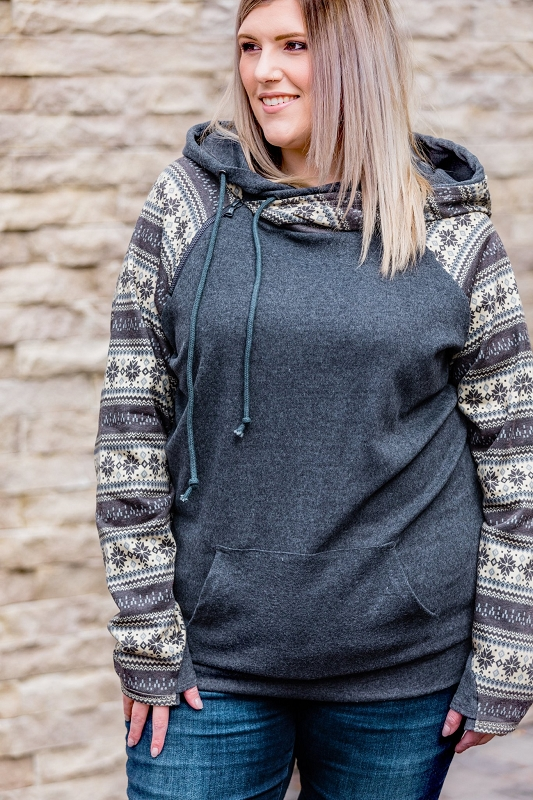 Womens Double Hoodie | Winter Nights