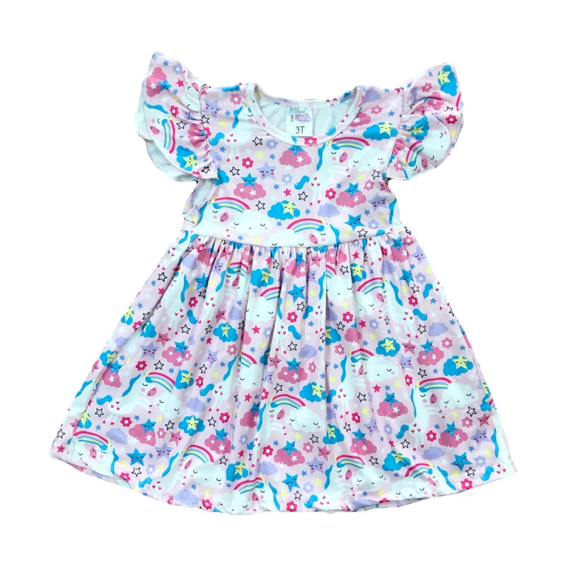 Prancing Unicorn Flutter Dress