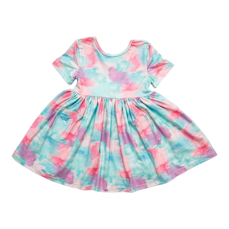 Watercolor Wonder Twirl Dress