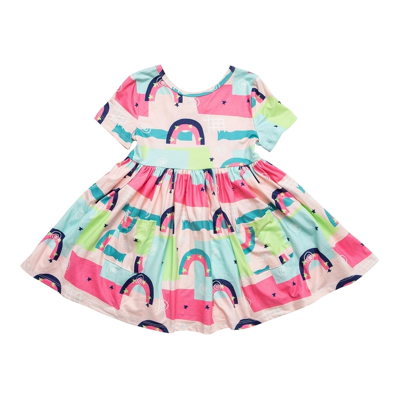 Rainbow Road Twirl Dress