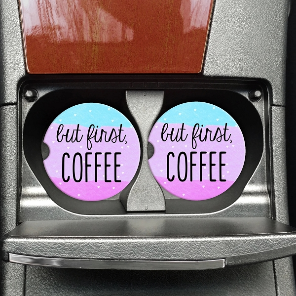 Car Coasters | But First, Coffee