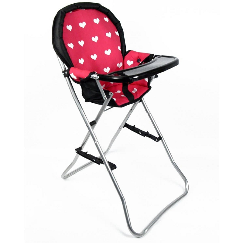 Doll High Chair | Pink Hearts