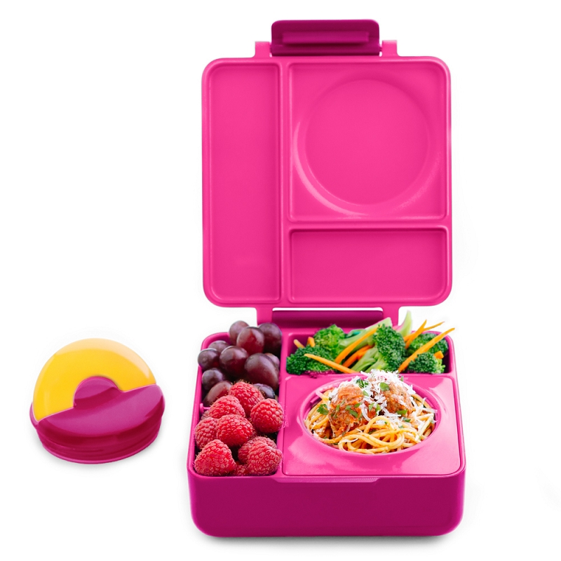 Omiebox Hot & Cold Bento box | Pink Berry