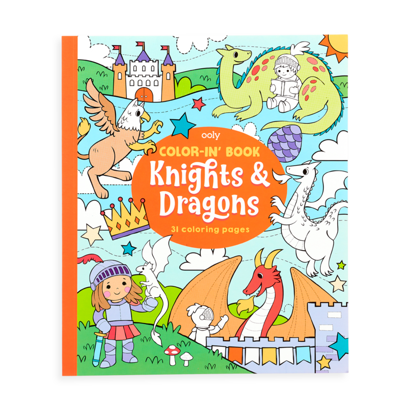 Coloring Book | Knights and Dragons