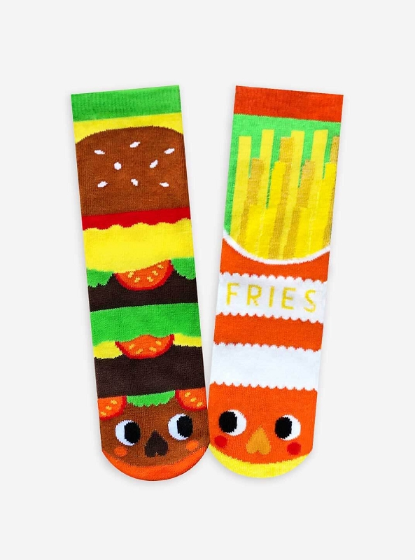 Pals Mismatched Socks | Burger & Fries