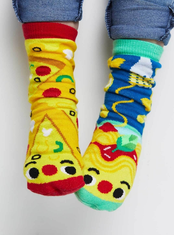 Pals Mismatched Socks | Pizza & Pasta