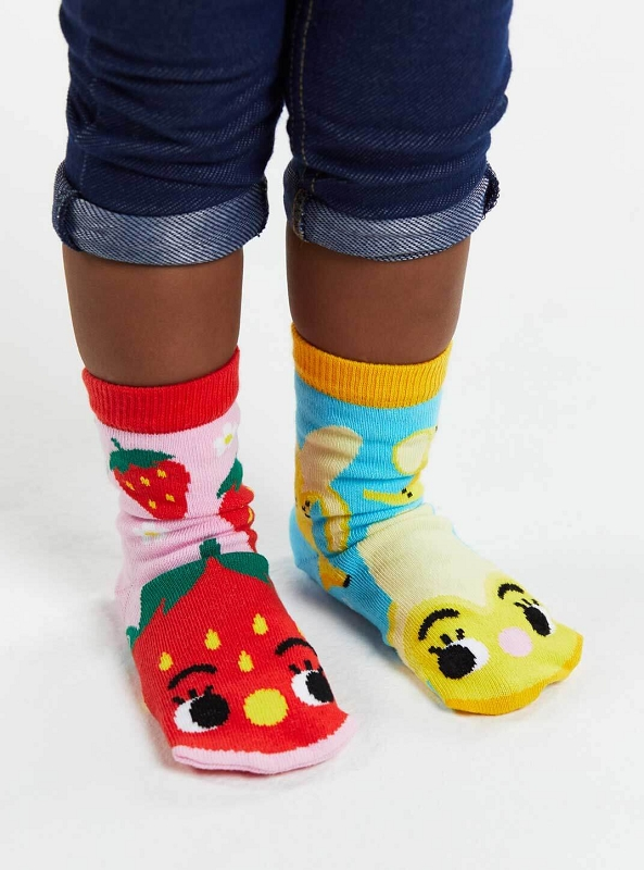 Pals Mismatched Socks | Strawberry & Banana