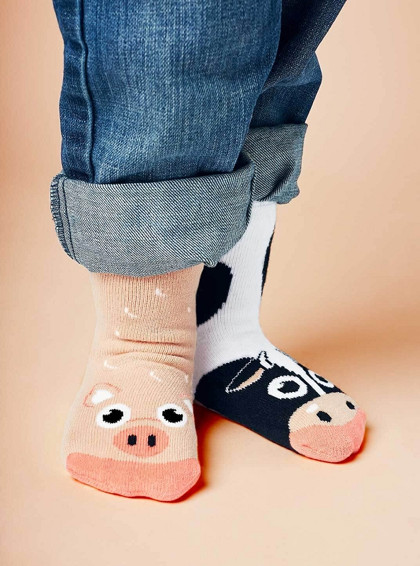 Pals Mismatched Socks | Cow & Pig