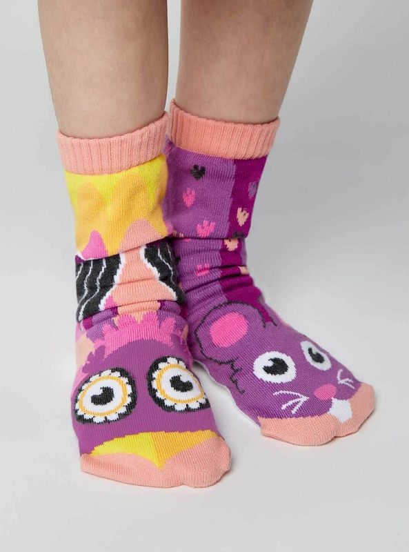 Pals Mismatched Socks | Owl & Mouse