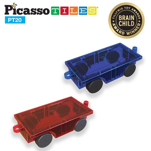 Picasso Tiles 2pc Car Set
