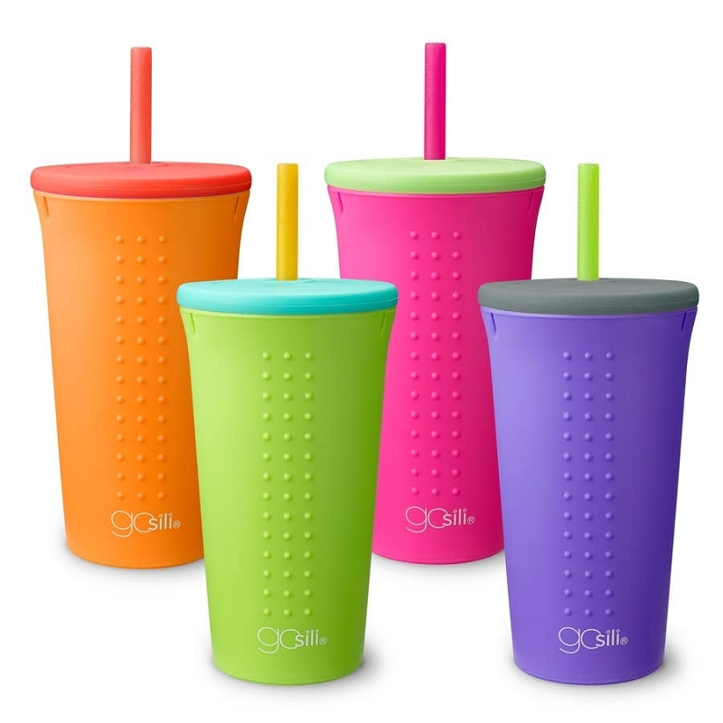 Silicone Straw Cup 16 oz | Lime/Sea