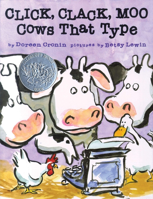 Click, Clack, Moo Cows That Type board book