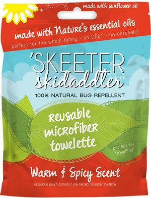 Skeeter Skidaddler Bug Repellent Towellete | Light & Lemony