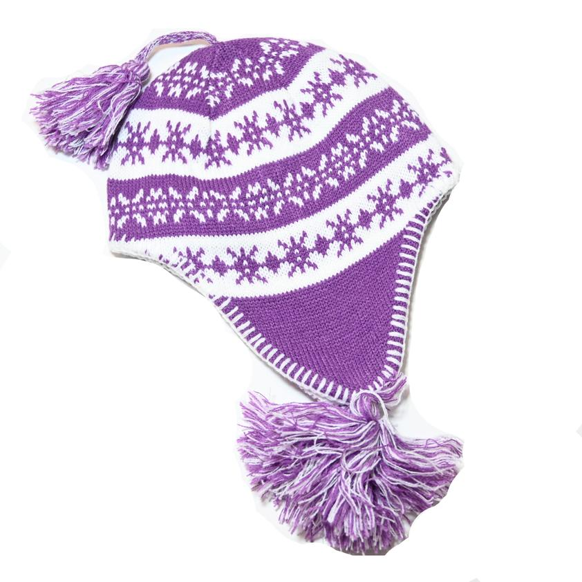 Knit Lined Hat | Purple
