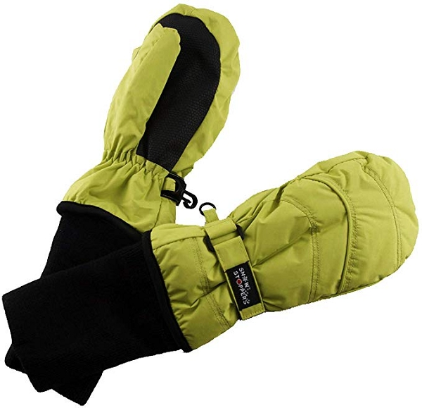 Extended Cuff Mittens | Lime