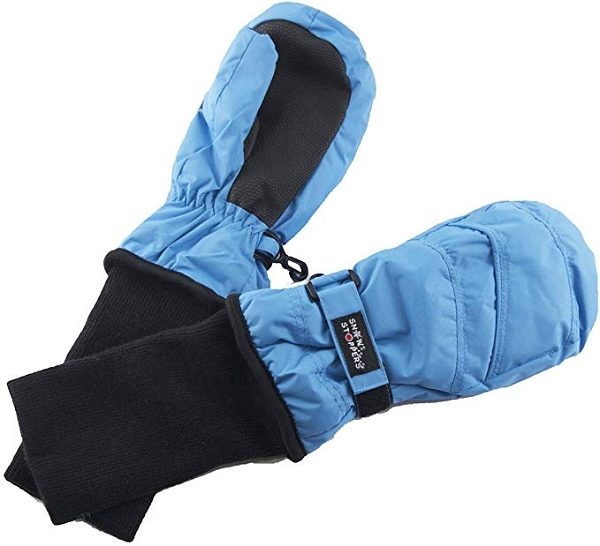 Extended Cuff Mittens | Sky Blue