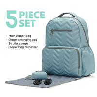Chevron Backpack Diaper Bag | Aqua